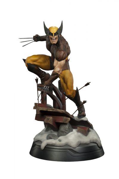 Marvel Premium Format Figur 1/4 Wolverine Brown Costume 50 cm