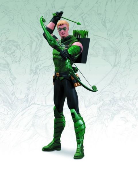 DC DIRECT JUSTICE LEAGUE GREEN ARROW NEW 52 16CM ACTIONFIGUR
