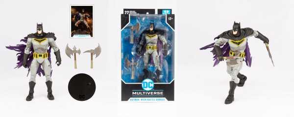 VORBESTELLUNG ! DC Multiverse Batman with Battle Damage (Dark Nights: Metal) 18 cm Actionfigur