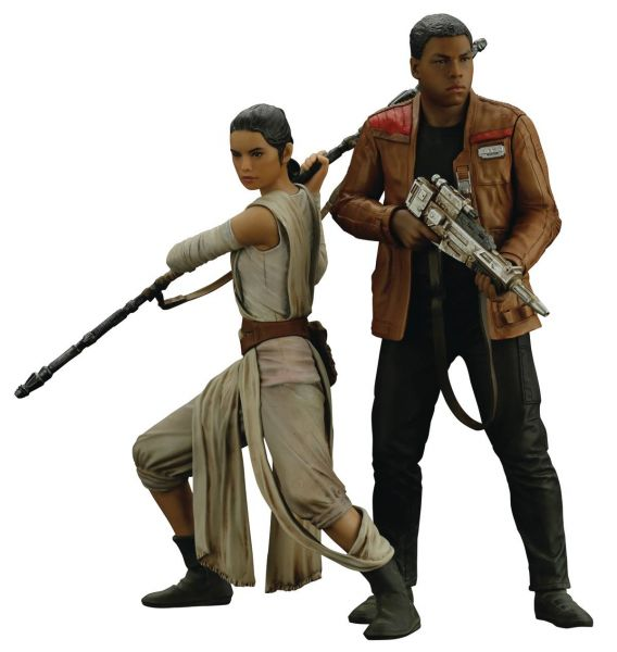 STAR WARS EPISODE 7 REY & FINN ARTFX+ STATUE 2-PACK