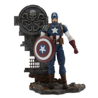 MARVEL SELECT AVENGING CAPTAIN AMERICA DISNEY EXCLUSIVE ACTIONFIGUR