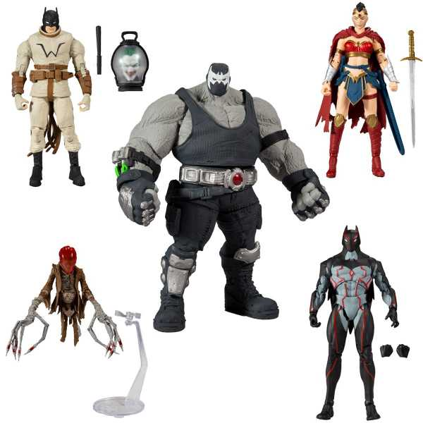 DC Multiverse Build A Bane 18 cm Actionfiguren Komplett-Set