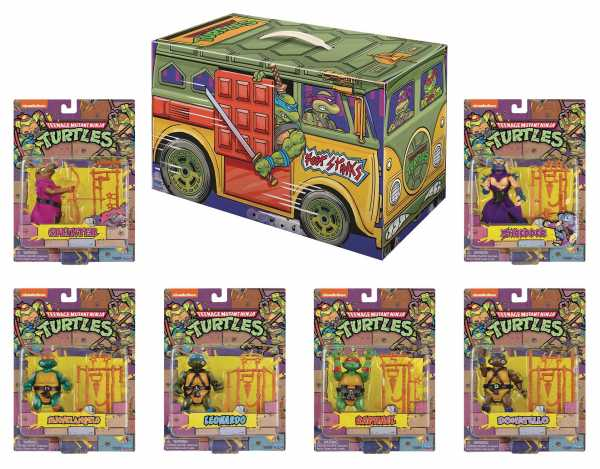 VORBESTELLUNG ! SDCC 2020 TEENAGE MUTANT NINJA TURTLES RETRO ROTOCAST PREVIEWS EXCLUSIVE 6er SET