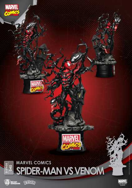VORBESTELLUNG ! MARVEL COMICS SPIDER-MAN VS VENOM DS-040 D-STAGE PX 6 INCH STATUE