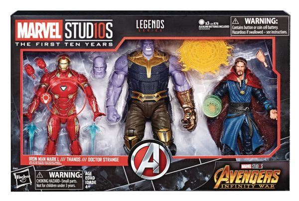 MARVEL MCU 10TH ANNIVERSARY AVENGERS 3 THANOS DR STRANGE IRON MAN
