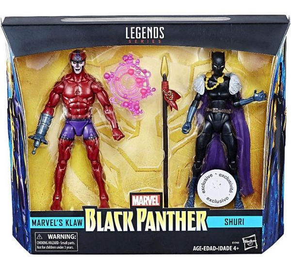 MARVEL LEGENDS BLACK PANTHER KLAW & SHURI EXCLUSIVE ACTIONFIGUREN 2-PACK