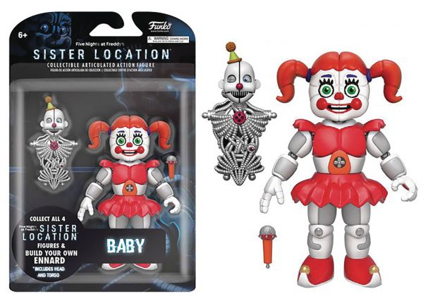 FIVE NIGHTS SISTER LOCATION BABY 12,5 cm ACTIONFIGUR