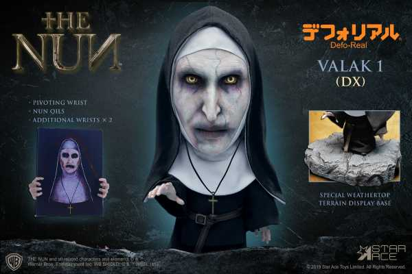 THE NUN VALAK CLOSED MOUTH DEFO REAL SOFT VINYL DELUXE STATUE