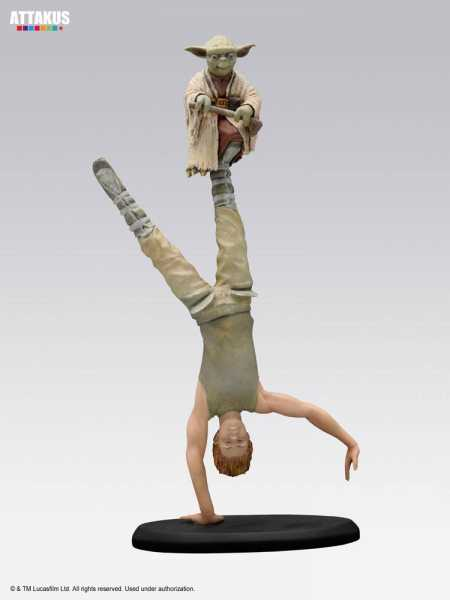 VORBESTELLUNG ! Star Wars Elite Collection Yoda & Luke Skywalker Dagobah Training 26 cm Statue