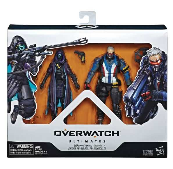 OVERWATCH ULTIMATES 15 cm ANA AND SOLDIER 76 ACTIONFIGUREN DUAL PACK