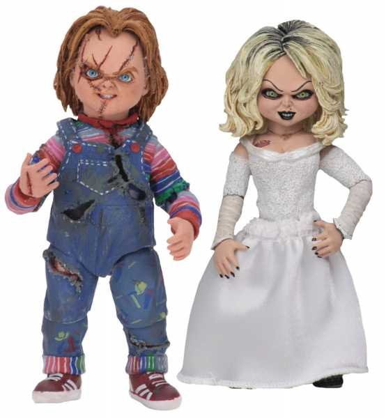 BRIDE OF CHUCKY ULTIMATE CHUCKY & TIFFANY 17,5 cm SCALE ACTIONFIGUREN 2-PACK