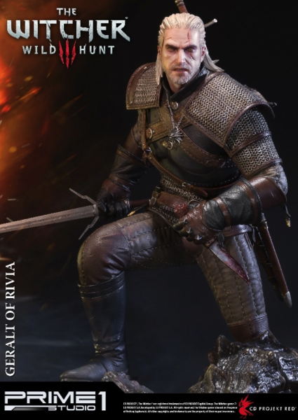 THE WITCHER 3 THE WILD HUNT - GERALT OF RIVIA / 67 CM / PRIME 1 STATUE