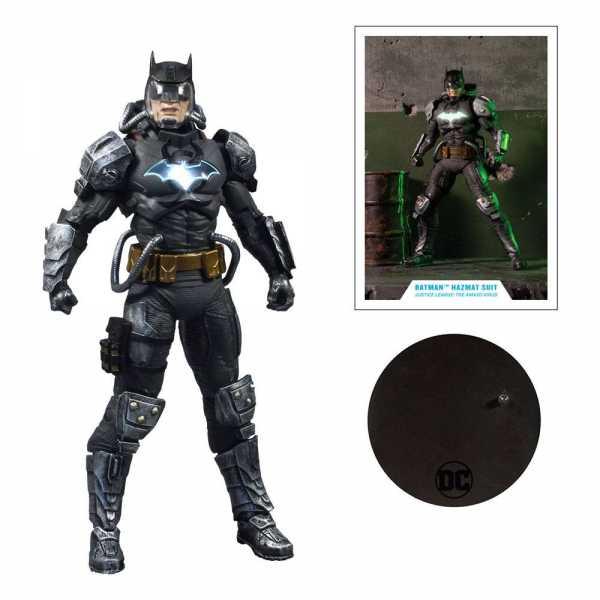 VORBESTELLUNG ! DC Multiverse Batman Hazmat Suit Gold Label Light Up Batman Symbol 18 cm Actionfigur