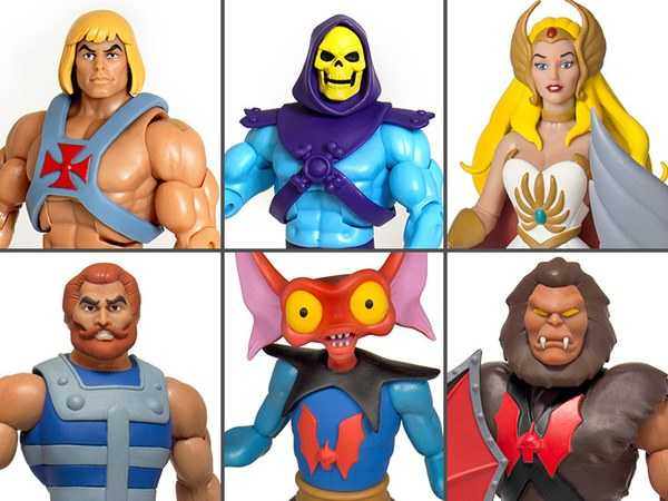 MASTERS OF THE UNIVERSE CLUB GRAYSKULL WAVE 3 alle 6 ACTIONFIGUREN