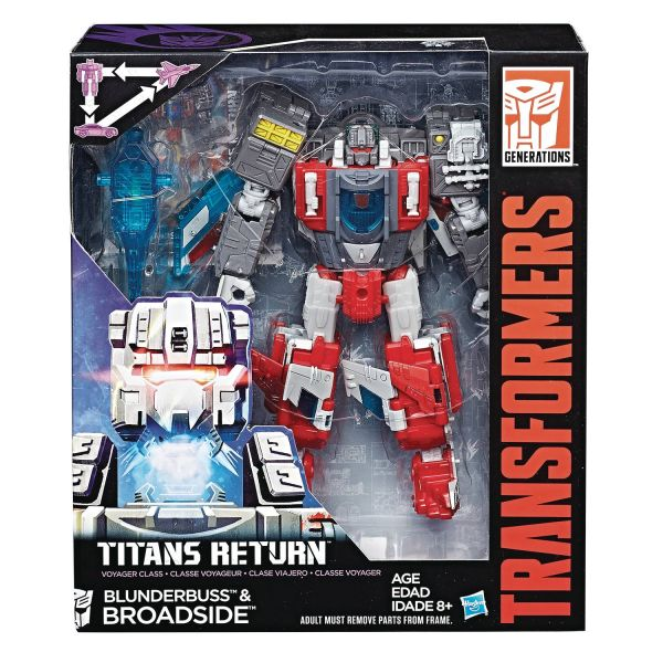 TRANSFORMERS GENERATIONS TITANS RETURN VOYAGER CLASS BLUNDERBUSS & BROADSIDE ACTIONFIGUR