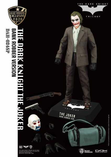The Dark Knight Dynamic 8ction Heroes 1/9 The Joker Bank Robber V 21 cm Actionfigur