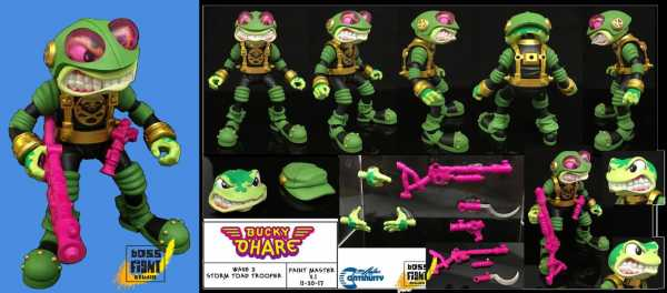 BUCKY O'HARE ANIVERSE STORM TOAD TROOPER ACTIONFIGUR