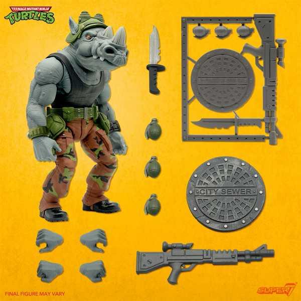 VORBESTELLUNG ! Teenage Mutant Ninja Turtles Ultimates Rocksteady 7 Inch Actionfigur