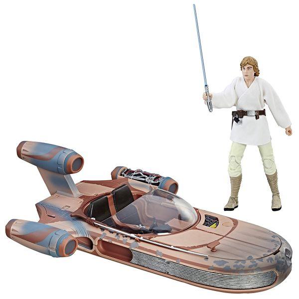 Star Wars The Black Series Luke Skywalker & Landspeeder Set