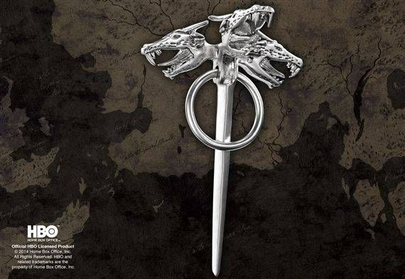 GAME OF THRONES DAENERYS THREE DRAGON REPLICA PIN