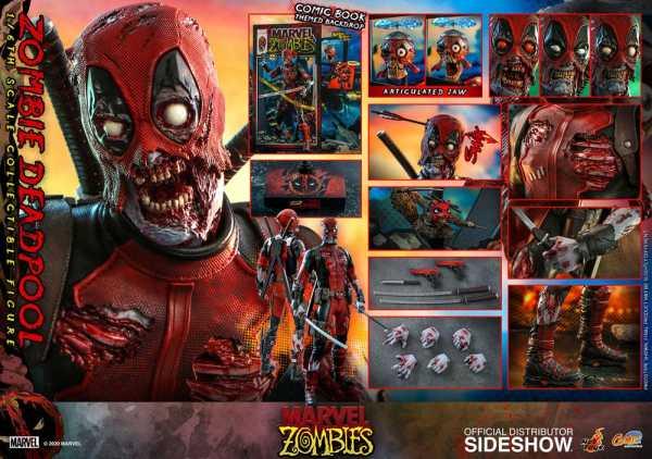 VORBESTELLUNG ! Marvel Zombies Comic Masterpiece 1/6 Zombie Deadpool 31 cm Actionfigur