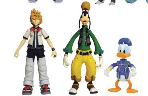 KINGDOM HEARTS SELECT SERIES 2 ROXAS WITH GOOFY AND DONALD DUCK ACTIONFIGUR