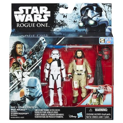Star Wars Rogue One Baze Malbus vs. Stormtrooper 10cm Actionfiguren 2-Pack