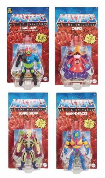 VORBESTELLUNG ! Masters of the Universe Origins 2020 14 cm Actionfiguren Komplett-Set US-Version