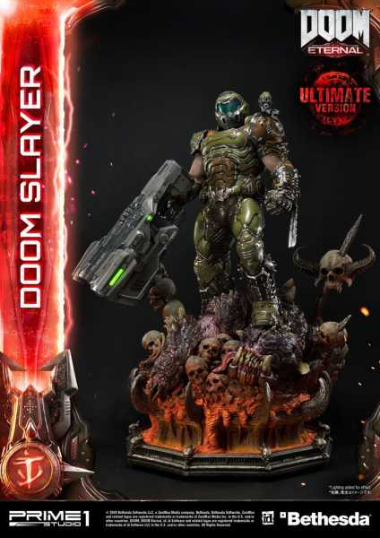VORBESTELLUNG ! Doom Eternal Doom Slayer 110 cm Statue Ultimate Version