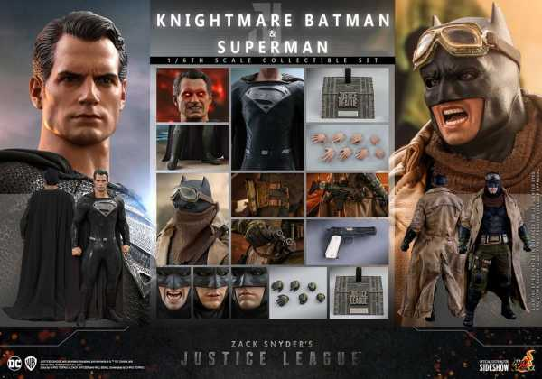 VORBESTELLUNG ! Zack Snyder's Justice League 1/6 Knightmare Batman Superman 31 cm Actionfiguren Set