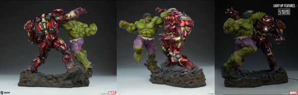AUF ANFRAGE ! Marvel Hulk vs Hulkbuster 50 cm Maquette