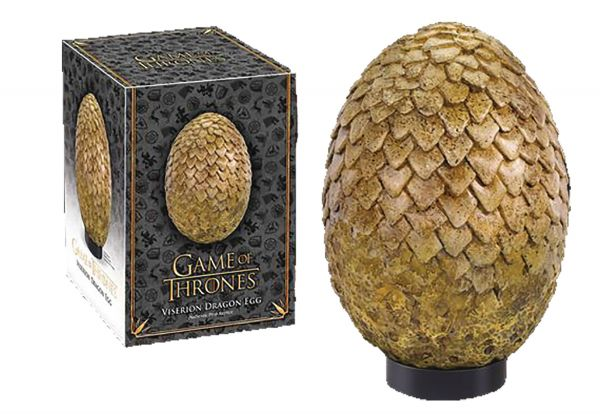 GAME OF THRONES DRAGON EGG VISERION (TAN) REPLICA
