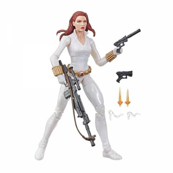 Marvel Legends Series Black Widow White Suit Deadly Origin 15 cm Actionfigur