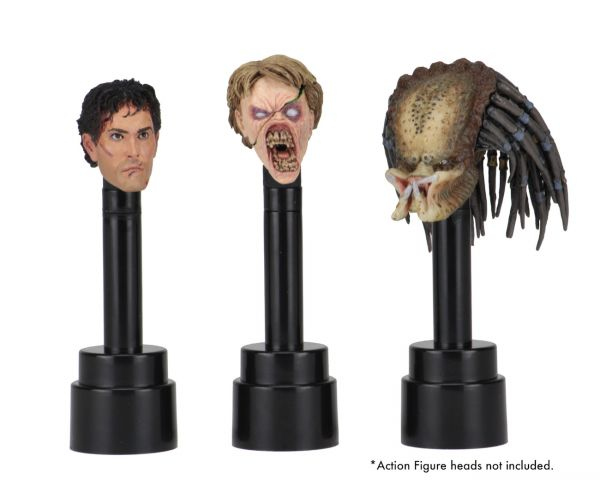 ACTION FIGURE HEAD DISPLAY STANDS BLACK 3PACK