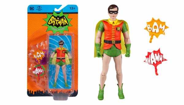 VORBESTELLUNG ! DC Retro Batman 66 Robin 15 cm Actionfigur