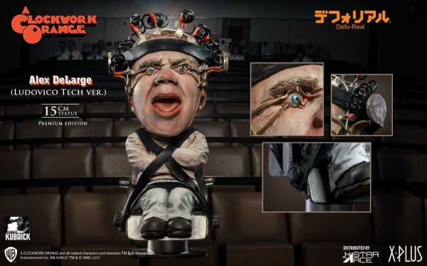 VORBESTELLUNG ! A Clockwork Orange Defo-Real Series Alex DeLarge 2 Ludovico Tech Vers. 15 cm Statue