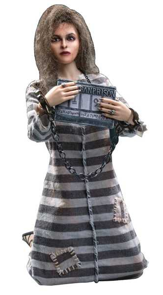 HARRY POTTER & ORDER OF THE PHOENIX BELLATRIX 1/6 COLLECTOR ACTIONFIGUR PRISONER VERSION