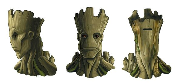 GUARDIANS OF THE GALAXY GROOT CERAMIC COIN BANK/SPARDOSE