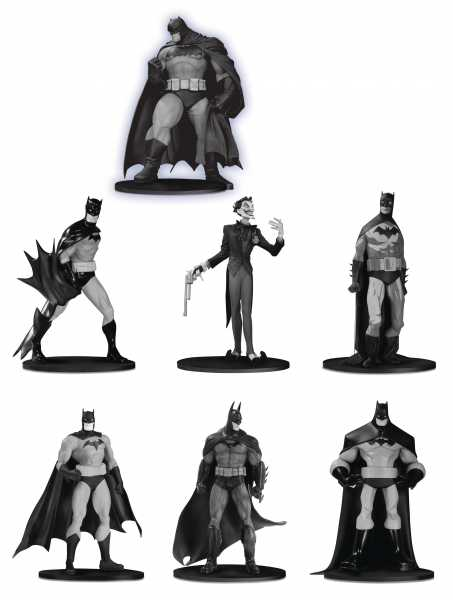 BATMAN BLACK & WHITE MINI PVC FIGUREN 7 PACK SET 3