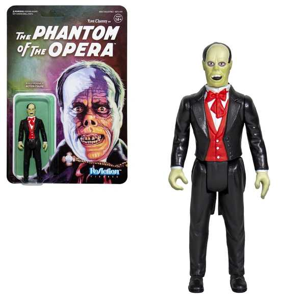 UNIVERSAL MONSTERS WAVE 2 PHANTOM OF THE OPERA REACTION ACTIONFIGUR