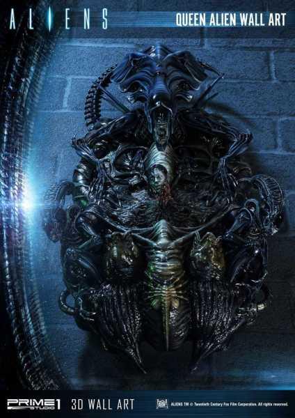 AUF ANFRAGE ! Aliens 3D Wand-Relief Queen Alien 33 x 57 cm