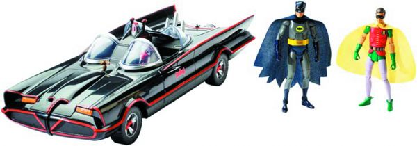 1966 BATMAN TV SERIES BATMOBILE INKL. 2 ACTIONFIGUREN