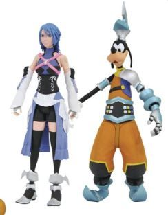 KINGDOM HEARTS SELECT SERIES 2 AQUA WITH GOOFY (BIRTH BY SLEEP OUTFIT) ACTIONFIGUR