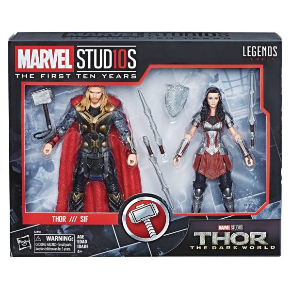 MARVEL MCU 10TH ANNIVERSARY THOR 2 ACTIONFIGUREN-SET