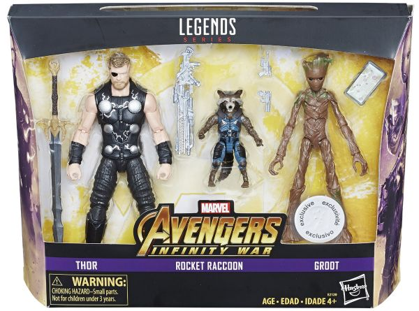 Avengers Infinity War Marvel Legends Thor Rocket Raccoon Groot TRU Exclusive