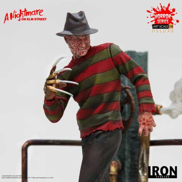 VORBESTELLUNG ! Nightmare on Elm Street Art Scale Statue 1/10 Freddy Krueger Deluxe 19 cm