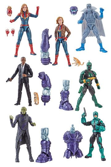 CAPTAIN MARVEL LEGENDS KOMPLETTE ACTIONFIGUREN-SERIE