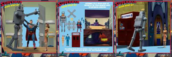 VORBESTELLUNG ! Superman (1941): The Mechanical Monsters 5 Points Deluxe Boxed Set
