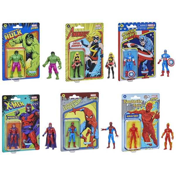VORBESTELLUNG ! Marvel Legends Retro Collection 3 3/4-Inch Actionfiguren Wave 1 Komplett-Set