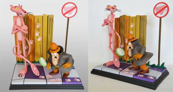 AUF ANFRAGE ! Der rosarote Panther Pink Panther & The Inspector 41 cm Statue
